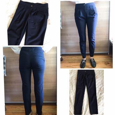 Классические брюки темно синего цвета. Для офиса и в школу! Размер