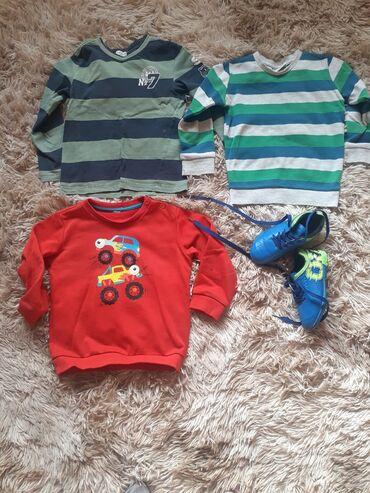 Вещи на мальчика на 3-4 года. Размер обуви 27. За всё вместе 200 сом