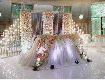 Оформление свадьбы... президиум.... фотозона в Бишкек