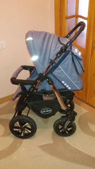 Bakı şəhərində продам коляску в отличном состоянии, три положения спинки, регулируема