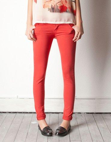 Узкие джинсы PULL&BEAR кораллового цвета Размер 38 - 40 в Бишкек