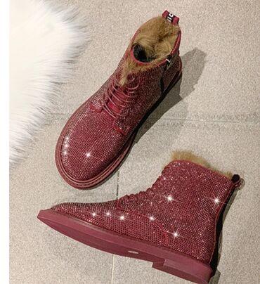 Бюстгальтер со стразами - Кыргызстан: Новые зимние ботинки со стразами, размер 38-38.5
