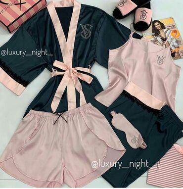 дома в Кыргызстан: Пижамы от Victorias Secret 4в1, ЛЮКСовое качество, есть доставка по