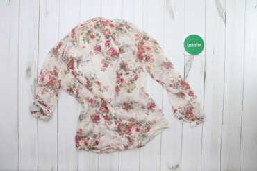 Жіноча сорочка у квітковий принт з підкатом рукавів Massimo Dutti    Д