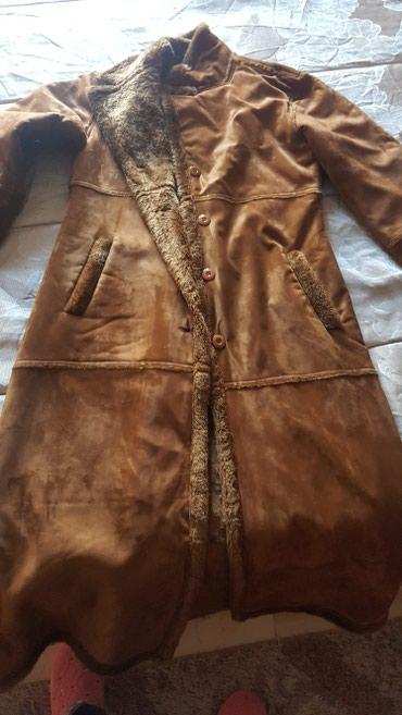 Γουνινο μακρύ παλτό. απόχρωση ταμπα. 2 φορές φορεμενο. πολύ ζεστο σε Corfu