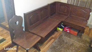 Drvena ugaona garnitura u odlicnom stanju plus dve stolice od punog - Pozega