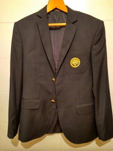 Продаю новый мужской пиджак!!! Цвет чёрный. Вышивка национальный герб  в Бишкек