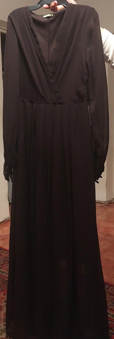 коричневое платье в пол в Кыргызстан: Женское шифоновое платье в пол Турция ростовка1,50м44-46 размер,600