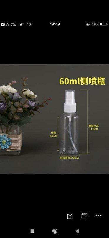 Тара для антисептика со спреем Бутылка для антисептика! Тара 60 мл опт