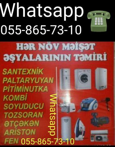 Texnikanın təmiri - Azərbaycan: Her nov meiset esyalarinin temiri Whatsappa yaza bilersiz