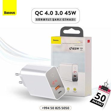 Baseus Sürətli PPS sistemi Toxunma ilə çalışan digital ekran QC 45W