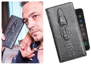 сумка-бу-кожа в Кыргызстан: Портмоне Alligator кожа + бесплатная доставка по кр, Портмоне Wild