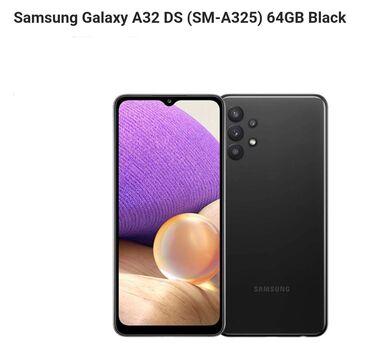 Samsung Galaxy A32 | 64 ГБ | Черный | Новый | Гарантия, Сенсорный, Отпечаток пальца