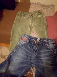 Dečije Farmerke i Pantalone | Zrenjanin: OVS dečije farmerice 152cm velicina, oba para za 500 dinara