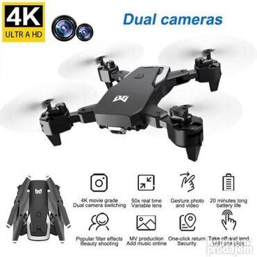 Sklopivi DRON KK6 sa torbicom! DVE KAMERE! NOVO  KK6 dron je sklopiv