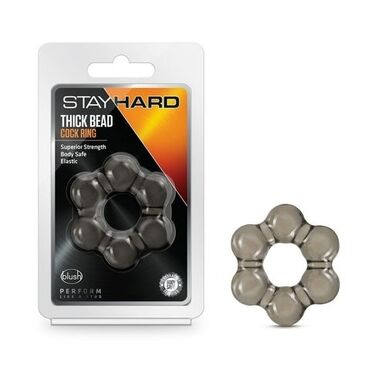 26 объявлений: Дымчатое эрекционное кольцо Stay Hard Thick Bead Cock