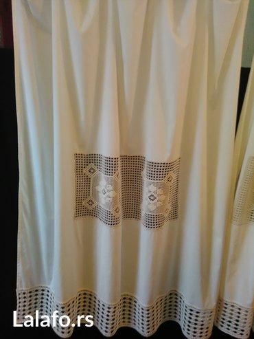 Zavese, novo, bez platno i heklano, dimenzije 180x150, cena je za obe - Beograd
