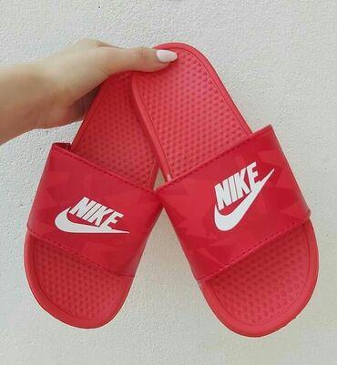 Crvene Nike papuce❤Brojevi od 36 do 41Bele Nike, crne Nike, Crne