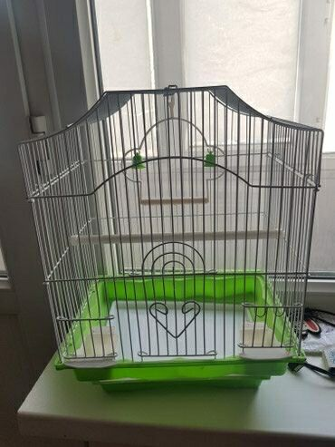 накидка на клетку попугая в Кыргызстан: Продаю клетку для попугаев точно такая же как на фото ! Цена 600