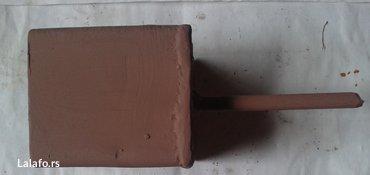 4-kom. Metalnih nosača za drvene stubove, kutija 100mm x 100mm visine - Nova Pazova