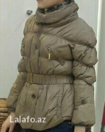 Bakı şəhərində Куртка турецская  размер 34 с лебяжем пухом с капюшоном