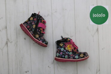 Дитячі кольорові чобітки з квітами, р. 24    Довжина підошви: 17  Ви