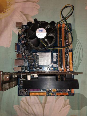 материнские платы 2 в Кыргызстан: Продаю сборку   Материнская плата biostar 775 сокет  Процессор Intel C