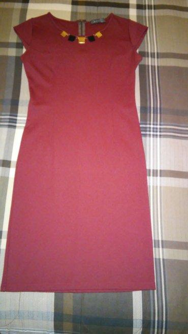 Bordo haljina, deblji pamuk elastin, bez ostecenja, velicina m/l, cena - Knjazevac