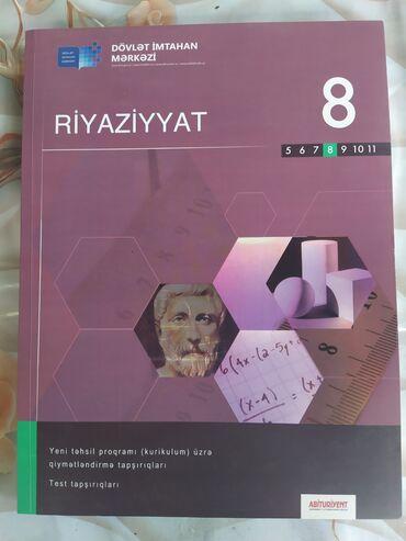 Kitab, jurnal, CD, DVD Gəncəda: Riyaziyyat 8 sinif test kitabı (kurikulum üzrə)