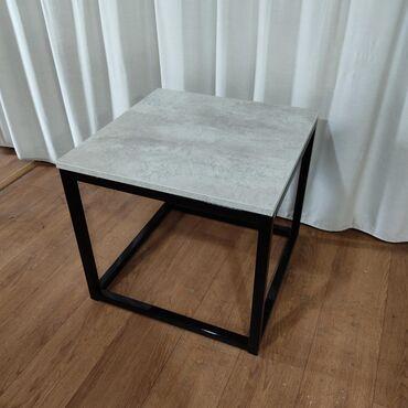 Журнальный столик 50х50 из металлического каркасаМожно заказать другой