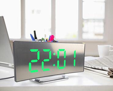 Kućni dekor - Kopaonik: Digitalni led sat DT-6507 sa zakrivljenim ogledalom - ZELENOU ponudi