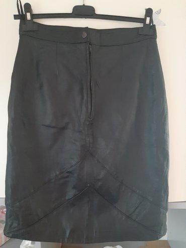 Crna kozna suknja Broj 40