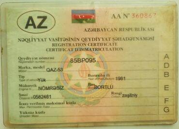 qaz 53 samosval satilir in Azərbaycan | QAZ: Qaz 53 sənədi