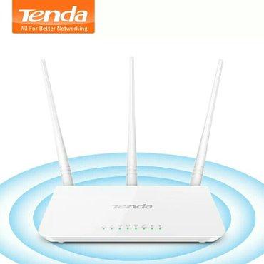 Tenda F3 wifi modem 3 antenali Yenidir 2,4 GHz band üzərində 300 Mb в Баку