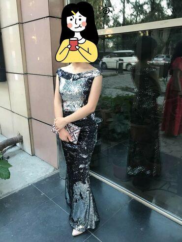 Шикарный платья хамелеон серый чёрный Одета 1 раз на выпускного размер