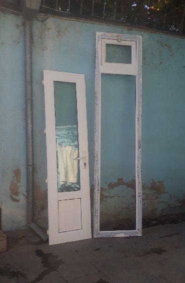 Белые двери - Азербайджан: Plastik qapi 0.61 x 2.57m  Qalin profilden hazirlanib çərçivənin xaric