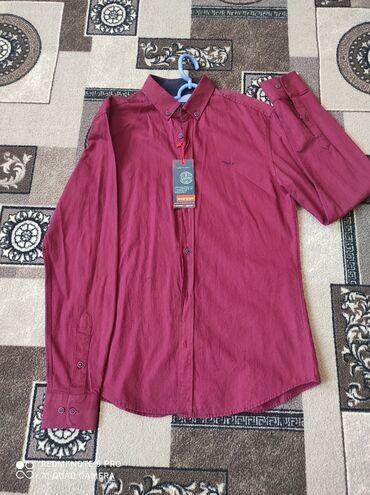 Турецкая новая рубашка, не подошла по размеру продаю, цвет бордовый