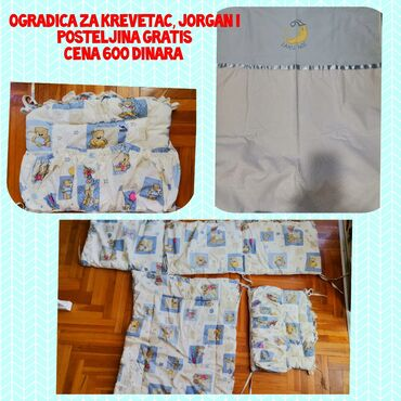 Ogradica - Srbija: Ogradica za krevetac, jorgan i posteljina gratis