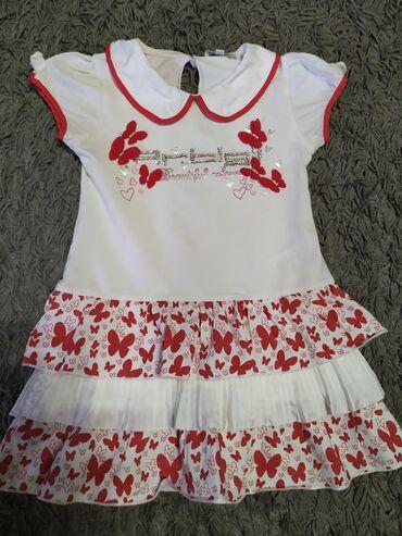 Детский мир - Орто-Сай: Вещи на девочку 2-3 года. Район парка Ата-тюрк. 1) Платье голубое от