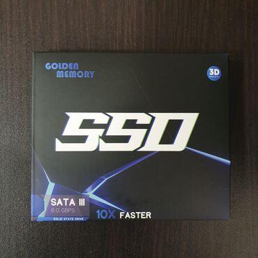 playstation memory в Кыргызстан: Ssd 120gb golden memory, новые, 0ч Гарантия 3 дня