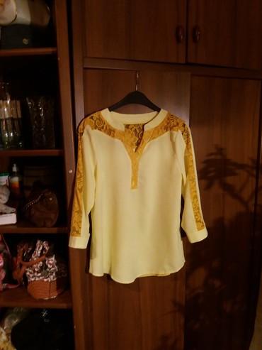туника желтая в Кыргызстан: Блуза .44 46размер. 100сом. смотрится классно