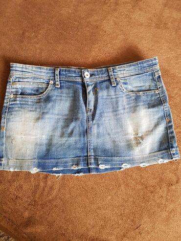 Teksas suknja - Srbija: Teksas suknjica vel.30, struk 40cm, duzina 30cm