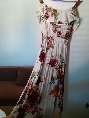 Turska letnja duga haljina jako prijatnja za letnje vreme. Potpuno