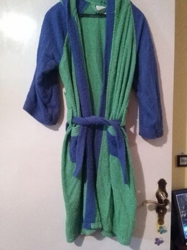 Bade mantil zeleno plavi,od frotira - Sombor