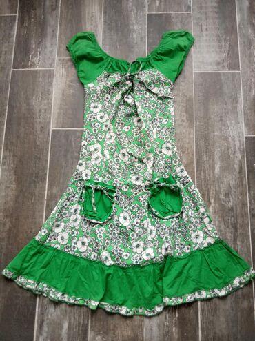 Haljine | Novi Banovci: Jos jedna zanimljiva haljinica, sa laznim dzepicima. Velicina s