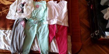 Majice( dugih rukava) i helanke za devojcice, velicina 80
