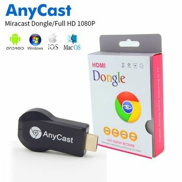 oasis платье в Кыргызстан: Wi-Fi Miracast Адаптер (Anycast Airplay)MiraScreen/Chromecast