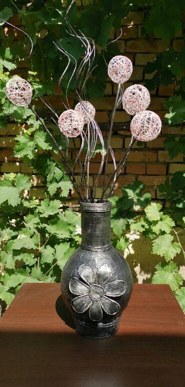 Kućni dekor - Ruski Krstur: Vaza za suvo cveceUkrasna vaza, rucni rad. Visina 29cm. Visina sa