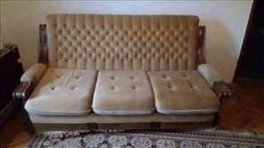 Fotelja na rasklapanje - Srbija: GARNITURA-Na prodaju sedeca garnitura za dnevni boravak, sadrzi