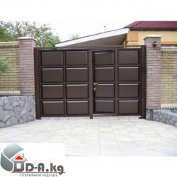 где делают ворота для дома в г бишкеке в Кыргызстан: Распашные ворота Мы изготавливаем распашные ворота любой сложности в